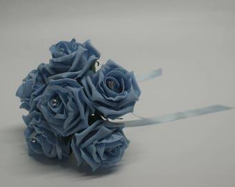 Wedding Posy - Perfect for Bridesmaids ( Light Blue )