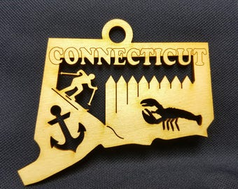 CONNECTICUT state ornament