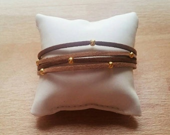 Bracelet brown suede