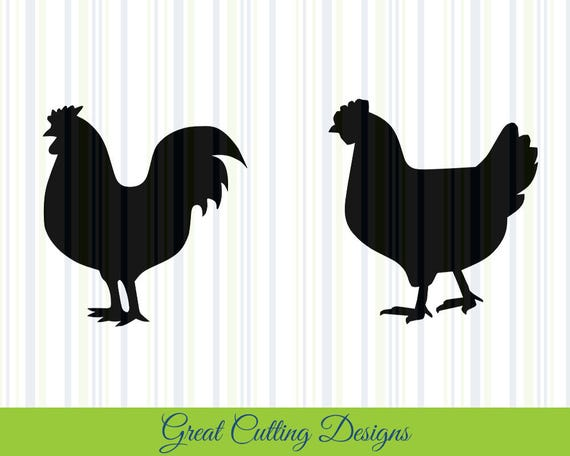 Chicken Svg: Chicken SVG Cut File, SVG DXF Cut File Rooster Hen Dxf