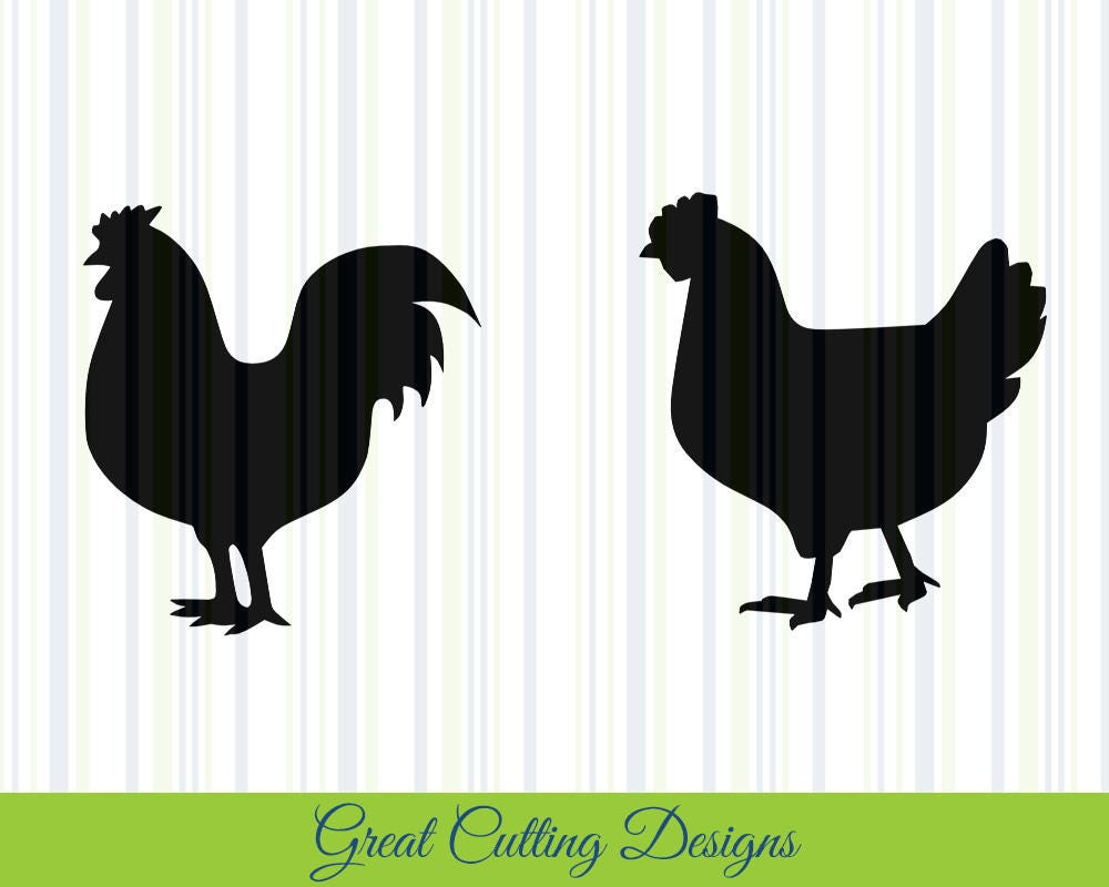Chicken Svg: Chicken SVG Cut File SVG DXF Cut File Rooster Hen Dxf Cricut