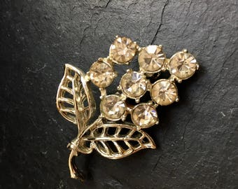 Vintage rhinestone brooch. Vintage brooch. Costume jewellery. Diamante brooch