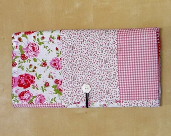 "travel changing pad romantic roses, 22 1/2"" X 15 1/2"" baby changing pad, diaper clutch, waterproof changing pad"