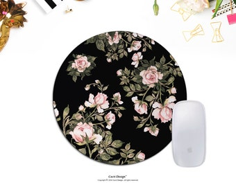 Mouse Pad MousePad - Floral Mouse Pad - Cute Mouse Pad Cute Mousepad Round Mousepad Floral Mousepad