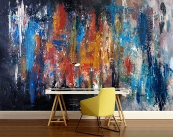 3D ABSTRACT MURAL, abstract wall mural, color wall mural, painting mural, self-adhesive vinly, paint wall mural, abstract wallpaper