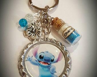 Disney inspired Lilo and Stitch keychain