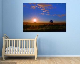 EP0036 Blue Sky Sunset - wall decal, photograph, decorative print