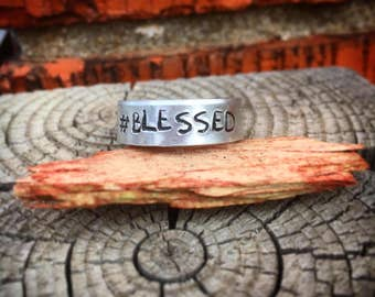 Hand Stamped Ring Adjustable and Personalized