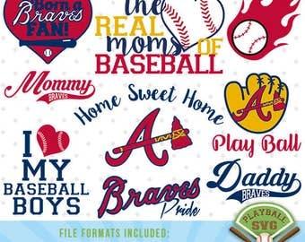 Atlanta Braves SVG files, baseball designs contains dxf, eps, svg, jpg, png and pdf files. PB-030