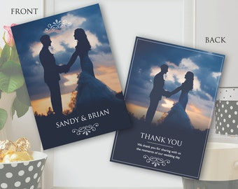 Wedding Thank You Card Template - Photoshop PSD *INSTANT DOWNLOAD*