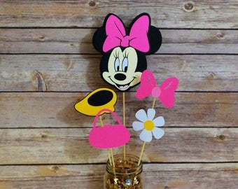 Minnie Mouse centerpiece, Minnie Mouse Birthday Party, Mickey mouse clubhouse, minnie mouse birthday banner, minnie mouse party decorations