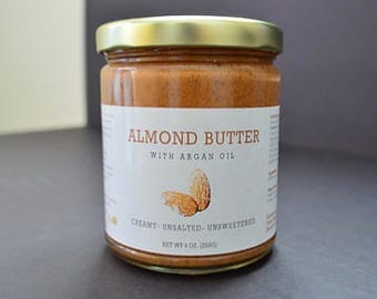 Organic Almond Butter with Moroccan Argan Oil - Amlou - 9oz