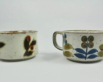 Vintage Soup Mug, Coffee Mug, Large Mug, Bittersweet Flower Otagiri, Hand Painted, Mid Century Modern, Vintage Mug, Mid Century
