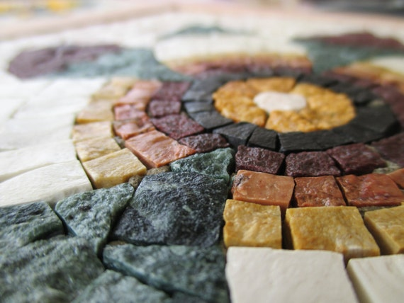 Diy Roman Mosaics Kit For Adults Pomegranate Flower Marble