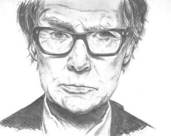 Bill Nighy Portrait Print