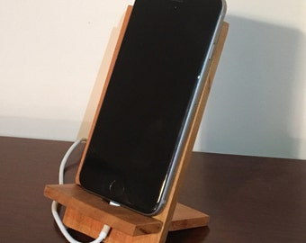 Free Shipping!! Travel Docking Station, REAL HARDWOOD CHERRYWOOD!!  iPhone Accessory!
