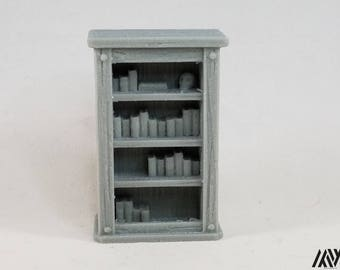 Bookcase - miniature furniture for Tabletop Gaming (DnD/Pathfinder/Warhammer)