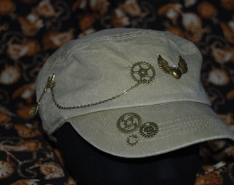 upcycled steampunk swat hat