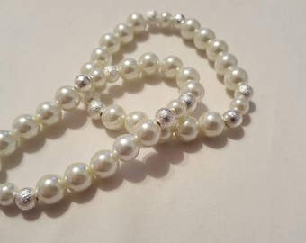 Pearl Bracelet Wedding Bracelet Flower Girl Jewelry Wedding Jewelry Wedding Pearls Flower Girl Gifts Bridesmaid Jewelry Bridal Jewelry