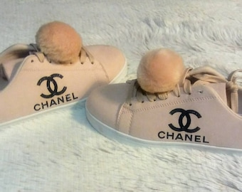 Womans Chanel designer inspired tennis shoes
