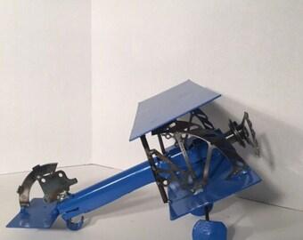 Royal Blue Steam Punk Airplane