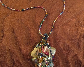 Beaded Stone Necklace
