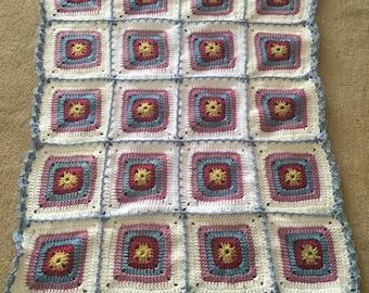 Crochet baby blanket/pram blanket/ car seat blanket