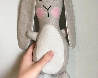 Stuffed Bunny, Gray Stuffed Easter Bunny