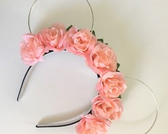 Baby Pink Rose Lightweight Minnie Ears