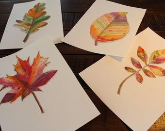 Fall themed greeting cards - Handmade design
