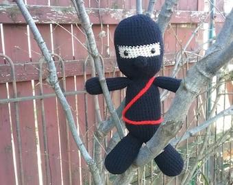 Ninja doll, Crochet Ninja, amigurumi ninja, crochet doll, toys, dolls