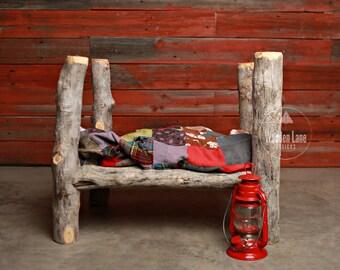 Newborn/Baby Digital Backdrop/Photography Digital Background/Log Bed/Quilt/Lantern