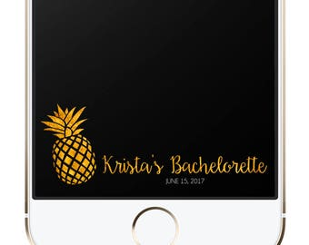Custom Party Snapchat Geofilter | Gold Pineapple