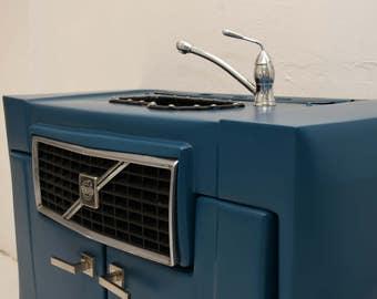 Blue Volvo Bathroom Closet