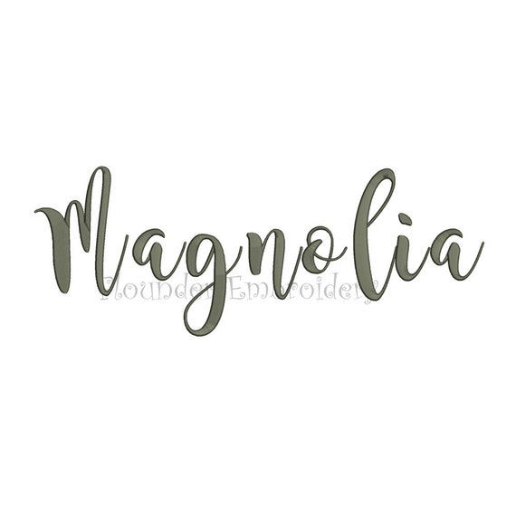 Magnolia embroidery font size designs fonts