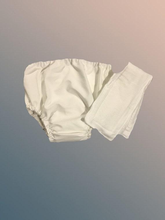 Medium-Organic Cotton Lyrca Adult Waterproof Pocket Diaper