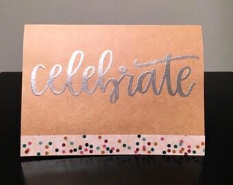 Kraft Celebrate Embossed Card