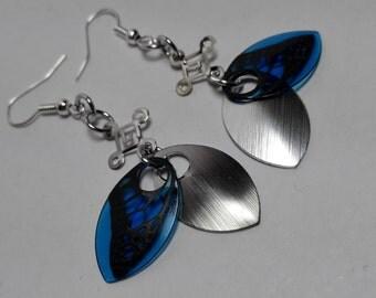 Earrings Butterfly Wings - choose color!