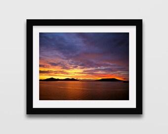 Fijian Sunset Photography print // Fiji photography // Beach print // Seaside print // Travel photography // Sunset // Wall art / Wall decor
