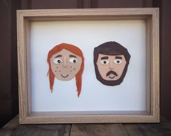 Custom Couple 3D Polymer Portrait