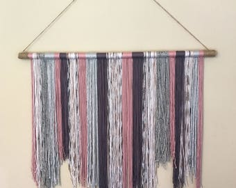 Handcrafted Yarn Wall Hanging, Boho Wall Hanging, Yarn Wall Art, Boho Chic Decor, Boho Decor, Nursery Decor, Dreamcatcher Wall Decor