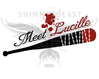 The Walking Dead SVG Cut File | Negan quote svg | Meet Lucille svg | Negan Walking Dead svg | Walking Dead fan SVG | Negan svg