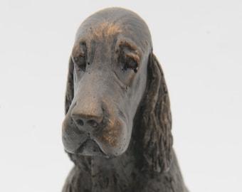 English Setter Sitting - Small Cold Cast Bronze Dog Statue