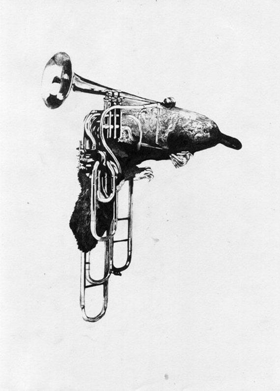 Ornitrombone [Animusicaux] - original drawing