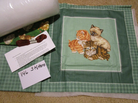 Three Kittens - Pillow Quilt Kit