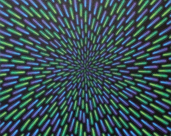 Modern painting : Green and purple particle.