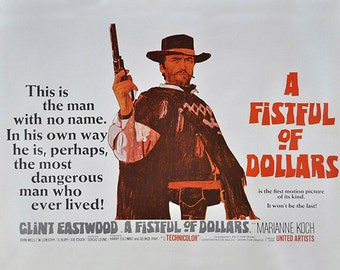 Fistful of Dollars, Clint Eastwood, Spaghetti Western, Movie Poster, Art, Print, Photo, Decor, 8x10, 11x14, 16x20 (JS1000)