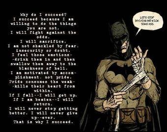 Motivational quotes, Batman, motivational print, motivational poster, motivational wall decor, motivational art, inspirational quotes JS1394
