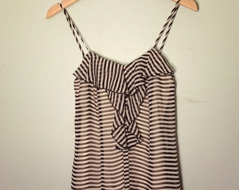 Striped Blouse Tank