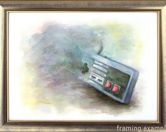 Watercolor Controller Painting NES